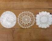 Three Antique Lace Doilies