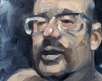 Selfie, oil on canvas panel 8x10 inches Kenney Mencher
