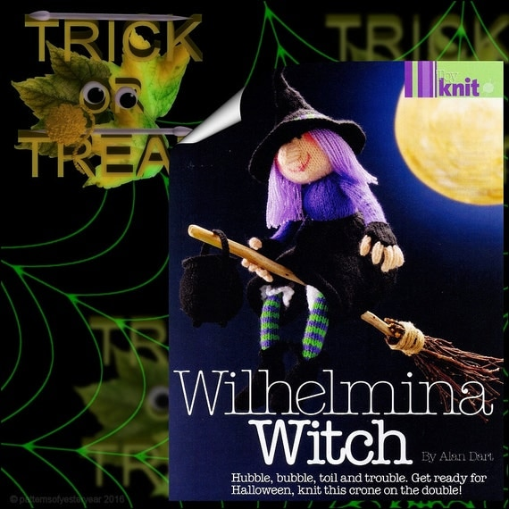 Free Knitting Pattern Witch Doll : ALaN DaRTS WILHELMINA WITCH ToY DoLL KNiTTING PaTTERN
