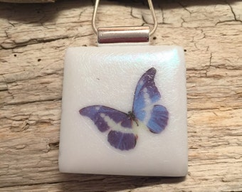 Dichroic glass jewelry, Dichroic Glass Pendant, Fused Glass Jewelry,butterfly pendant, Fused glass pendant, glass Necklace, Dichroic Glass