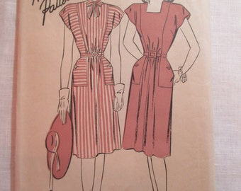 "Antique 1940's Advance Pattern #4284 - size 36"" Bust"