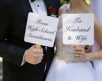 Wedding engagement Picture Signs - From High School Sweethearts  From College Sweethearts to Husband and Wife Wedding signs