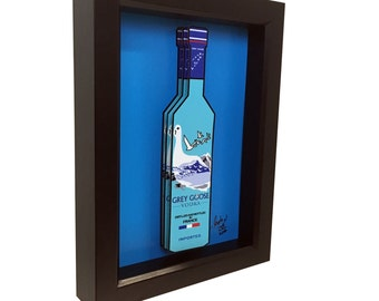 Grey Goose Vodka Bottle 3D Art Liquor Bottle Print 3D Pop Art Artwork Bar Art Kitchen Decor
