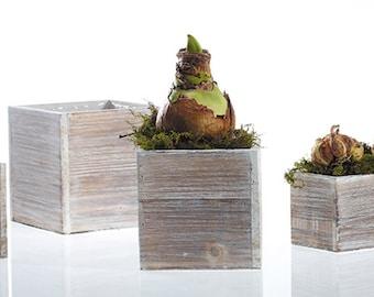 Planter boxes, wedding centerpiece, whitewashed box, wood box, wood planter, succulent planter, square planter, oblong, rustic planter,