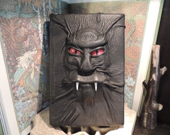 Mythical Beast Book (Dracula print book-Black leather with  Red eyes)