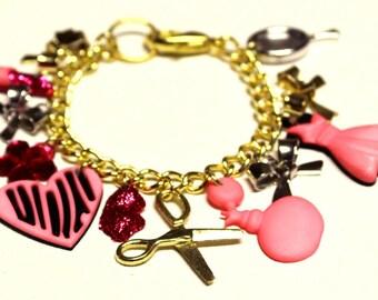 RESERVED - Custom Girly Charm Bracelet