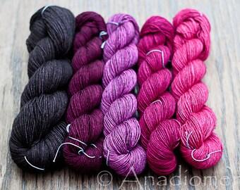 Cashmere Sock- Potpourri Gradient - Colour Adventures (fibers: merino, silk)