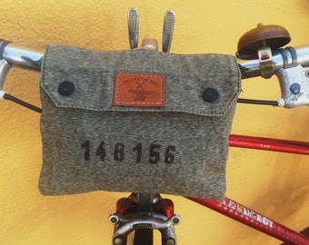 Vintage Swiss Army Handlebar Bag