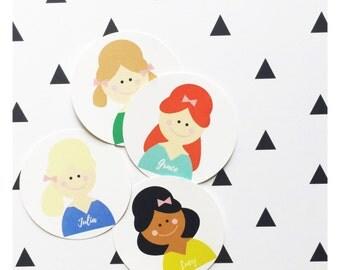 Custom Girl Stickers