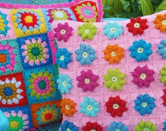 Patterns for two pillow shams and  crochet tops