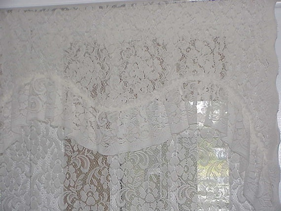 Curtains Ideas 80 inch door panel curtains : Free Shipping..Vintage Cream Lace Door Panel by BUTTERCUPGARDEN
