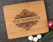 Personalized Cutting Board, Personalized Wedding Gift, Custom Engraved Bamboo Cutting Boards, Wedding Gifts, Housewarming Gifts-15 x 12 D39