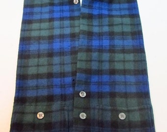 Black Watch wool tartan mini vest