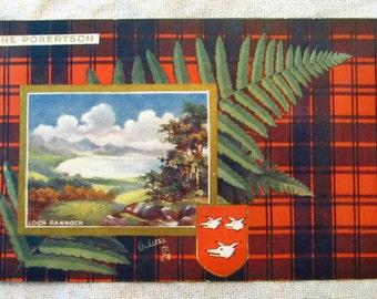 Clan Robertson antique postcard
