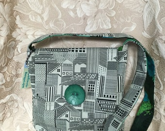 Handdyed Green Cityscape Vernazza Bag