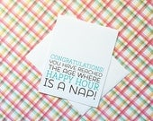 New Baby - Baby Shower - New Parents - Funny Card - A2 Greeting Card - Humorous Birthday Card - Funny Birthday Card