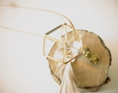 precious long necklace pendant geometric ( one of a kind, original, ishtar, geode, sunny ) 01