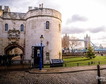 London Photography, Travel Wall Art, Tower of London Photo, Tower Bridge, London Decor, Thames River Print, London Bridge, Office Decor