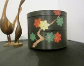 Midcentury Japanese Jubako / Traditional Japanese lacquer ware serving box/Two Tier Serving Ware