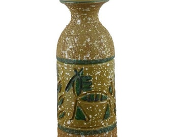 MOVING SALE Italian Pottery Vase Hieroglyphic Horses and Trees