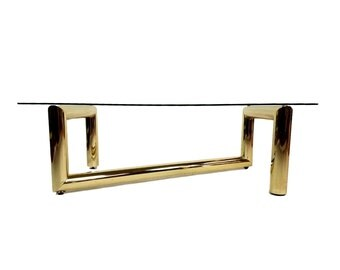 Karl Springer Tubular Brass Z Coffee / Cocktail Table
