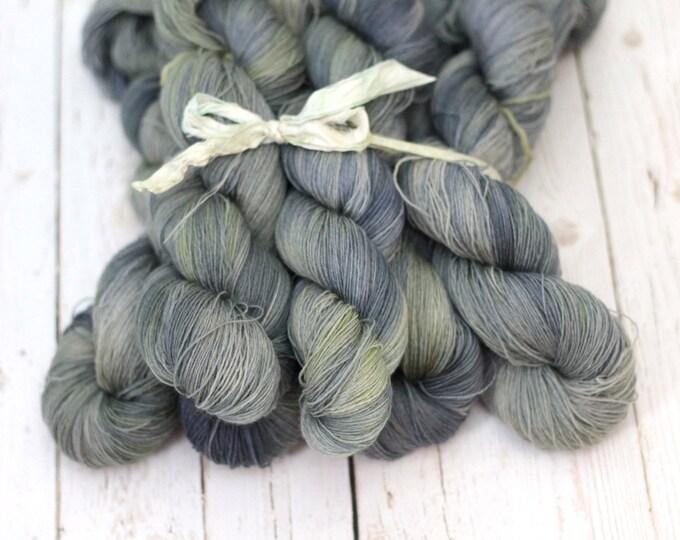 "hand dyed yarn, handdyed yarn, lace yarn, Lambswool Cashmere  yarn, 656 yards, ""Sage"""