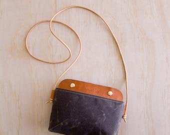 Mallorca Crossbody Bag -  Dark Brown Wax