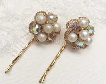 Wedding Hair Pins, Bridal Bobby Pins, Pearl Bobby Pins, Vintage Wedding, Bridal Accessories, Wedding Hair