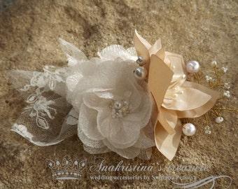 Bridal headpiece,bridal fascinator,wedding comb,Hair fascinator