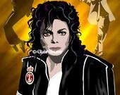 Pre-made Art Rendering Michael Jackson  8X10 or 11x14 Digital Art King of Pop, Beat it