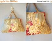 30%OFF 1940s Floral Bag / Lawson Studios Purse / 30s