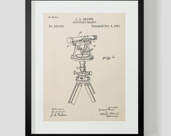 Telescope Surveyor's Patent Art Print