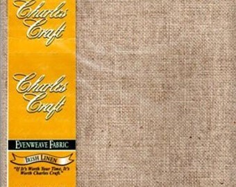 GT 222 - Charles Craft Linen, 28 Count, Tea, 20 X 24 Inches, 50 X 61cm, Cut Fabric Collection