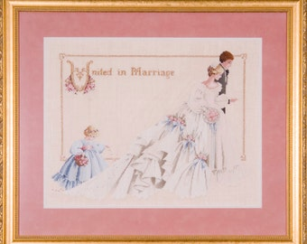 The Wedding- Lavender & Lace - Cross Stitch Chart 19