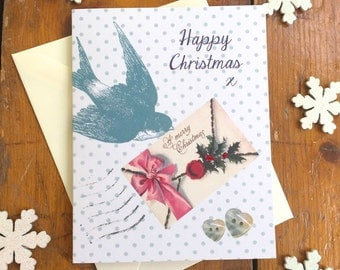 Xmas in July SALE Victorian Bird Pack of 5 Christmas cards