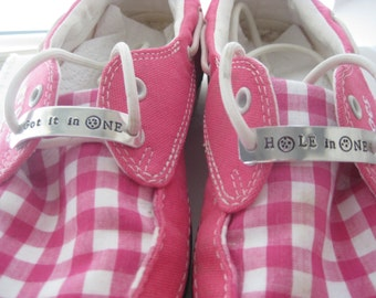 Shoe Tag - Golf Shoe Tag - Talk Birdie to me, Hole in One, Got it in One, Fore your name Golf Accessory - Golf Favor - Shoe Inspiration