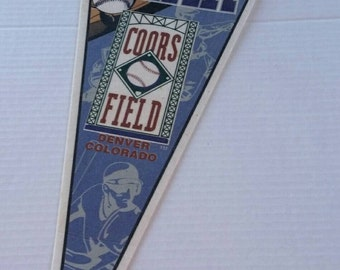 1995 Inaugural Year Coors Field, Colorado Rockies, felt pennant, sports collectible