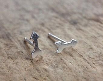 Arrow Earrings, Sterling Silver Stud Earrings, Silver Post Earrings, 925 Stud Earrings, Sterling Studs, Bohemian Jewelry