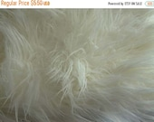 ON SALE NOW Off White Shaggy Mongolian Faux Craft Size