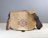 Leather Camera Bag New Satchel  -  Golden Mandala Leather DSLR - PRE-ORDER