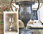 Antique Silver Plate Dance Contest Trophy