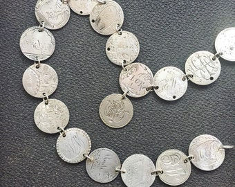 Spectacular Antique 1850-1888 Love Token Necklace - 27 Coins