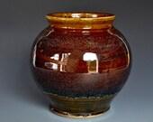 Burgundy Sunset Pottery Vase Stoneware Flower Vase Handmade Ceramic Vase Pottery A