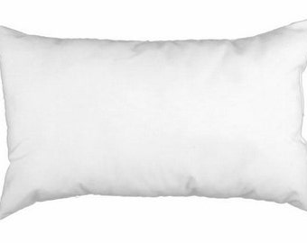 Pillow Insert - 12 x 16 or 12 x 18 - Rectangular Pillow Insert - Lumbar Pillow - Decorative Pillow Form -  100% Polyfill