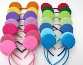Solid Colorful Bear Ears Headband