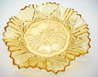 Vintage Gold Glass Serving Bowl