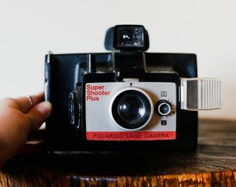 Polaroid Land Camera Super Shooter Plus with Wrist Strap. Polaroid Camera. Instant Film Camera.
