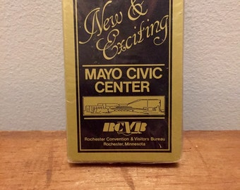 Vintage Mayo Civic Center Playing Deck of Cards Rochester Minnesota Advertising