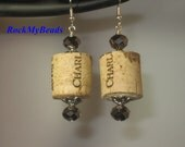 Wine Cork Earrings-Wine Earrings-Earrings-Wine Gifts-Wine Lovers-Gifts for Her-Gifts for Wine Lovers-Special Occasion Gift-Birthday Gifts