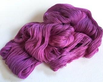 Leah. Silk / Cotton Lace Yarn. Spilt Berries